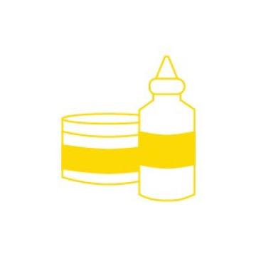 Prípravky k farbám, riedidlá a laky