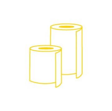 Toaletný papier, utierky, zásobníky